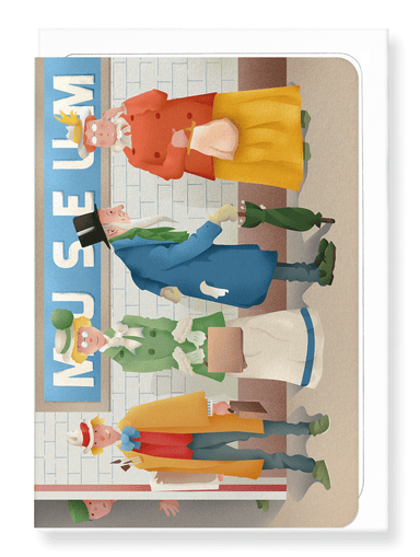 Ezen Designs - Museum tube station - Greeting Card - Front