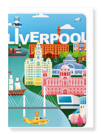 Ezen Designs - Liverpool dream city - Greeting Card - Front