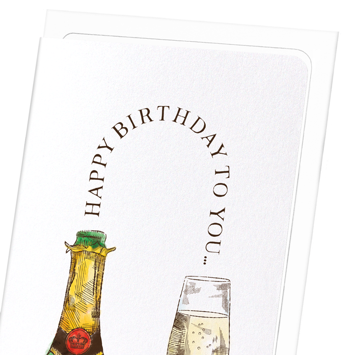 HAPPY BIRTHDAY CHAMPAGNE: 8xCards