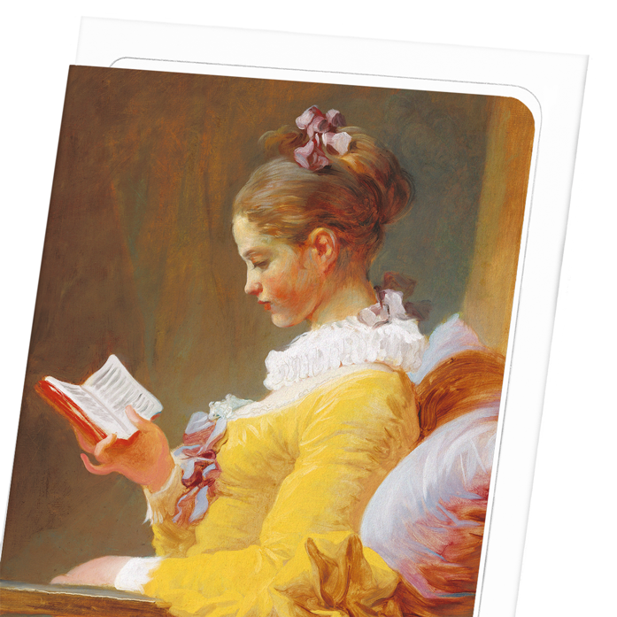 YOUNG GIRL READING C.1769: 8xCards