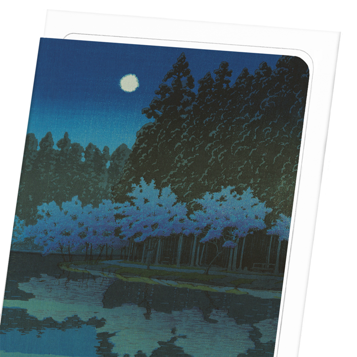 SPRING CHERRY BLOSSOMS AT NIGHT: 8xCards