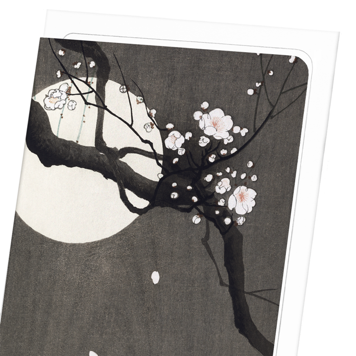 PLUM BLOSSOM AND FULL MOON: 8xCards