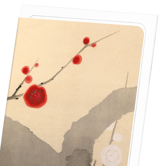 PLUM BLOSSOM FLOWERS: 8xCards