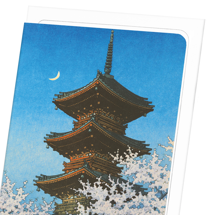 EVENING GLOW ON PAGODA: 8xCards