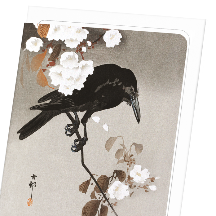 CROW WITH CHERRY BLOSSOM: 8xCards