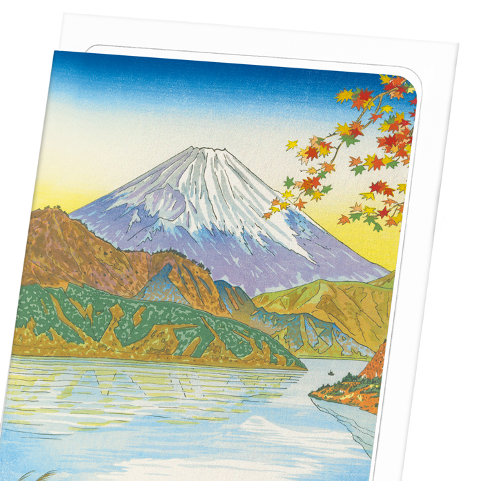 MOUNT FUJI AND LAKE ASHI: 8xCards