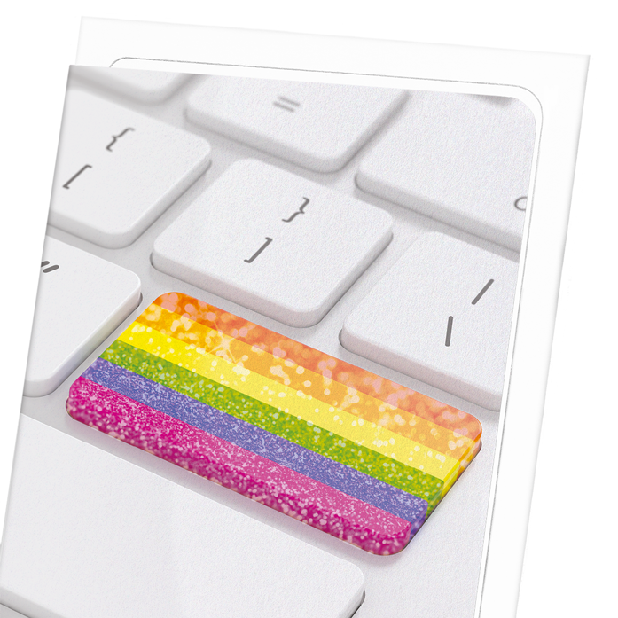 RAINBOW KEYBOARD: 8xCards