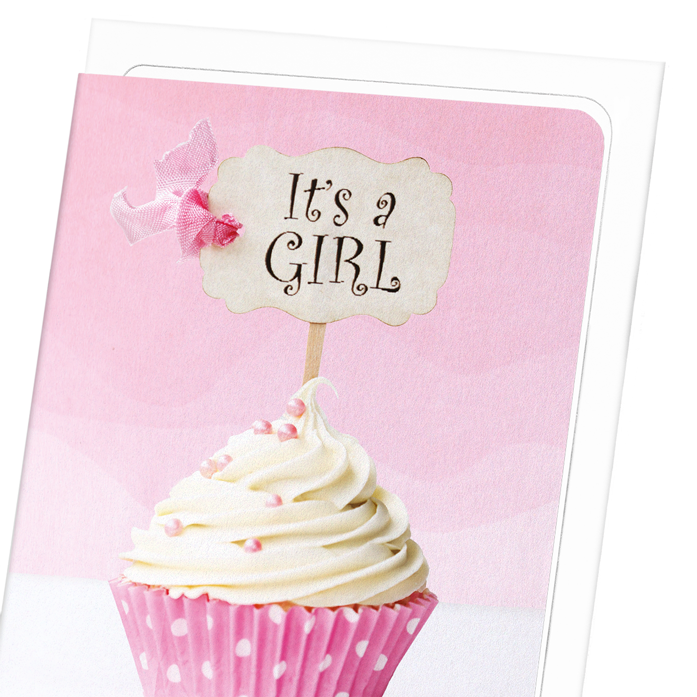 IT'S A GIRL CUPCAKE: 8xCards