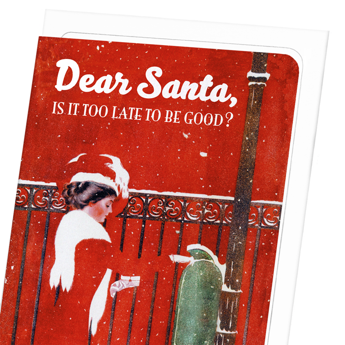 DEAR SANTA - TOO LATE?: 8xCards