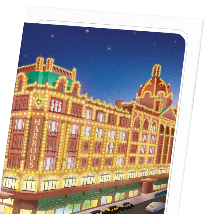 HARRODS AT NIGHT: 8xCards