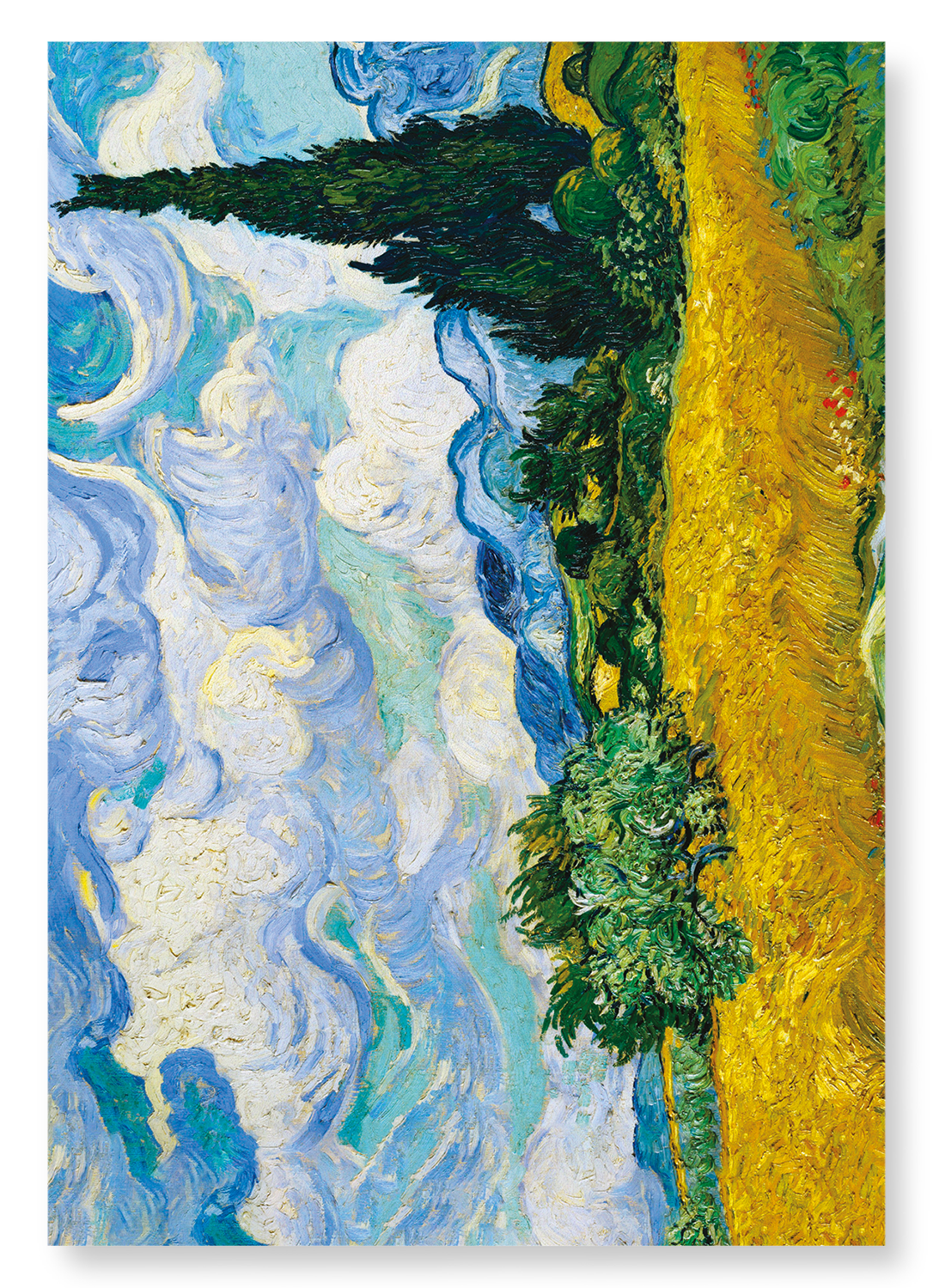 WHEAT FIELD WITH CYPRESSES (1889): 2xPrints