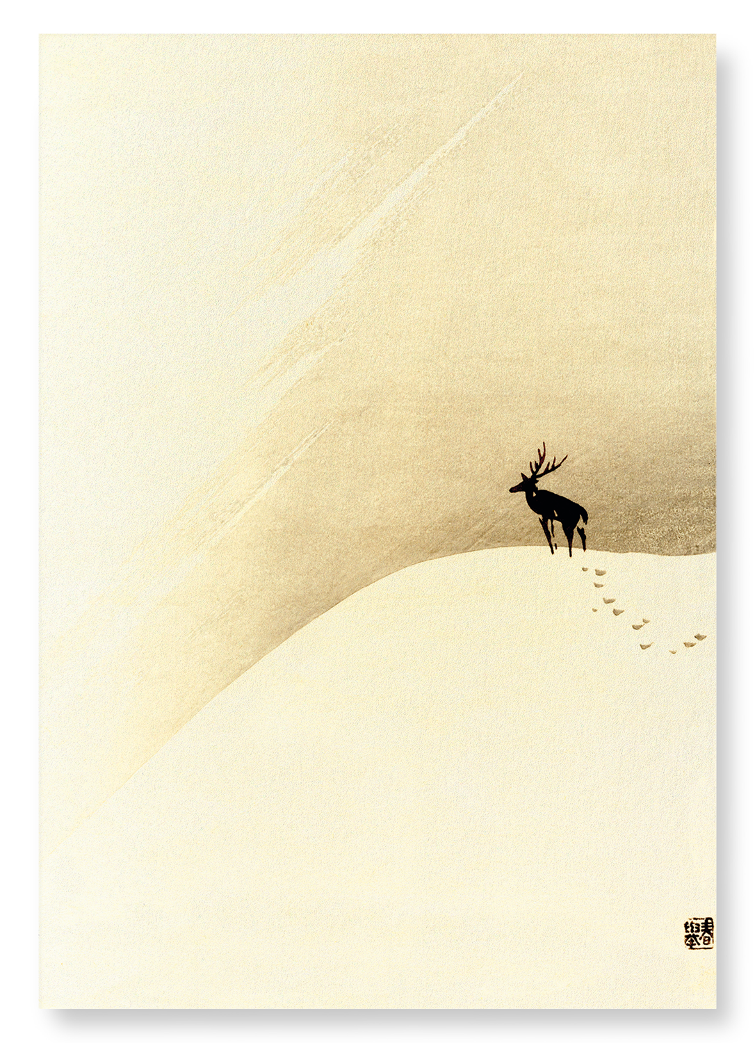 Deer on mountain: 2xPrints