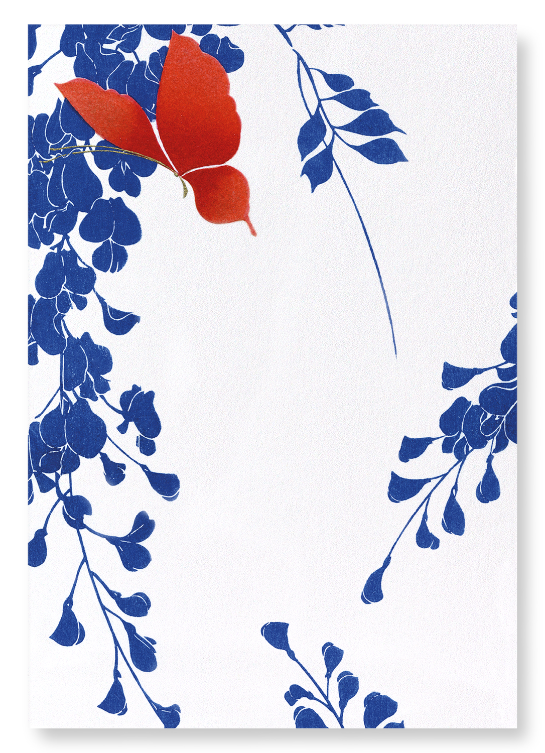 RED BUTTERFLY AND WISTERIA: 2xPrints