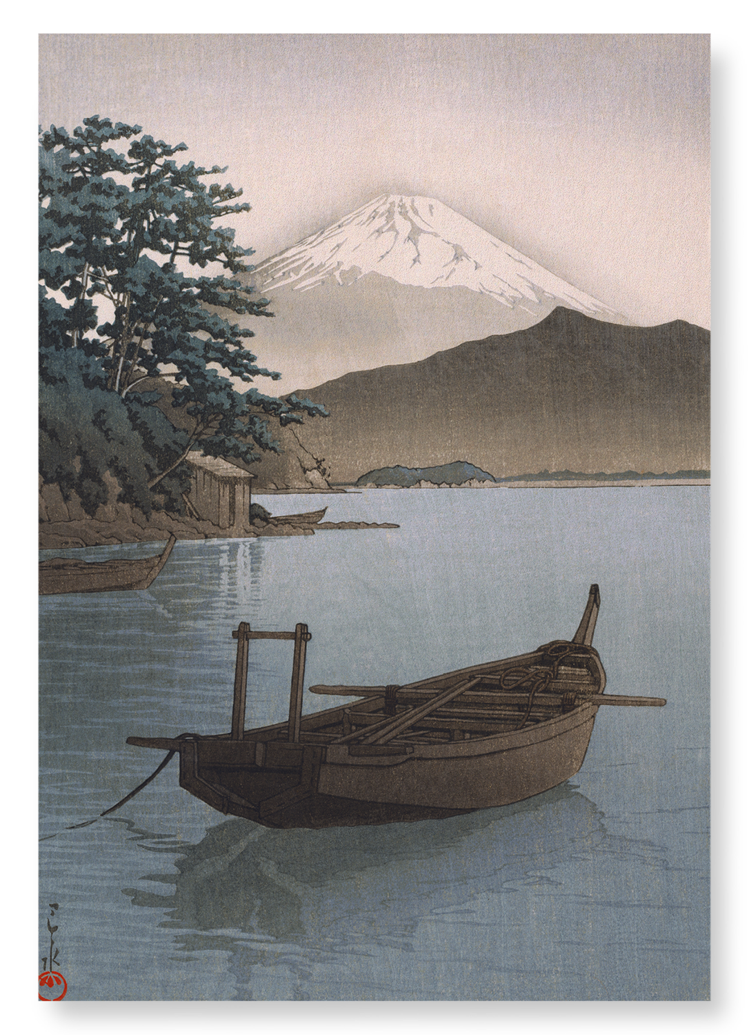 Mount fuji and boat: 2xPrints