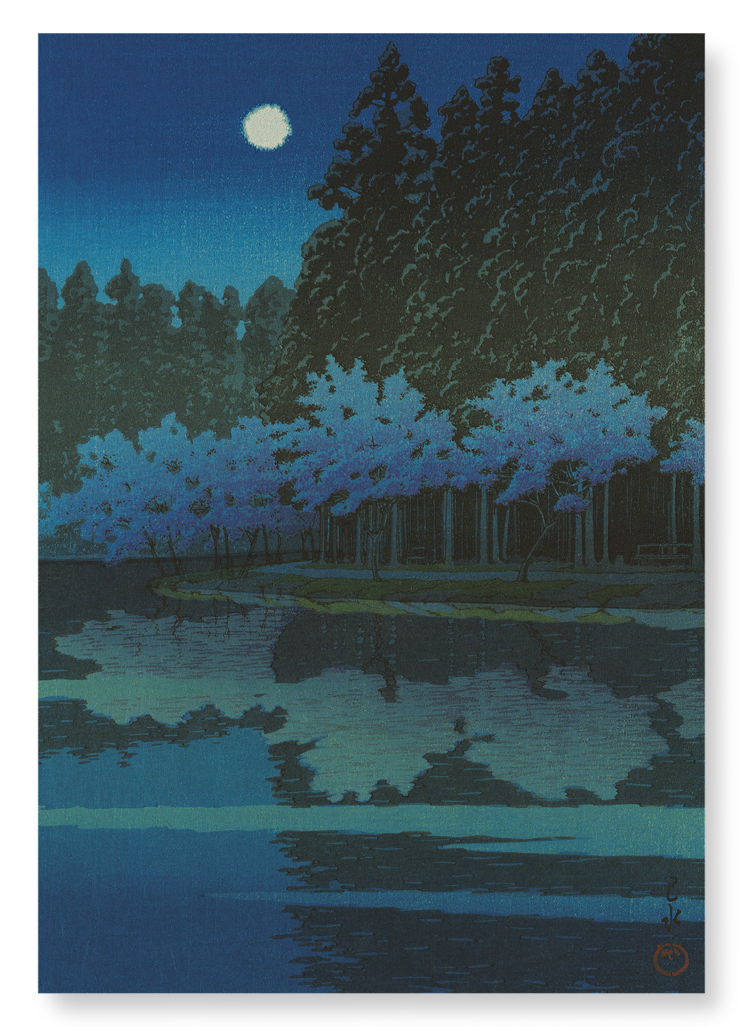 Spring cherry blossoms at night: 2xPrints