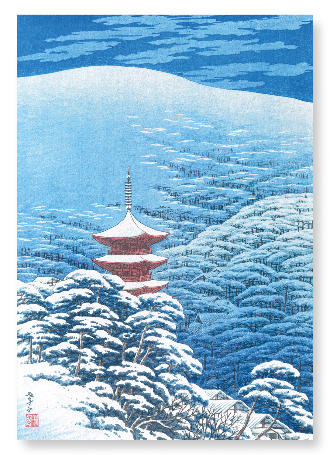 After a snowfall yasaka shrine: 2xPrints