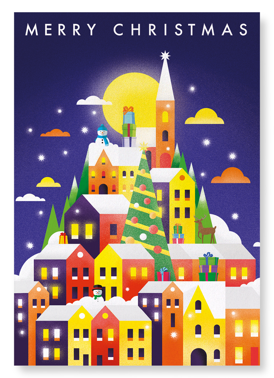 CHRISTMAS SNOW CITY: 2xPrints