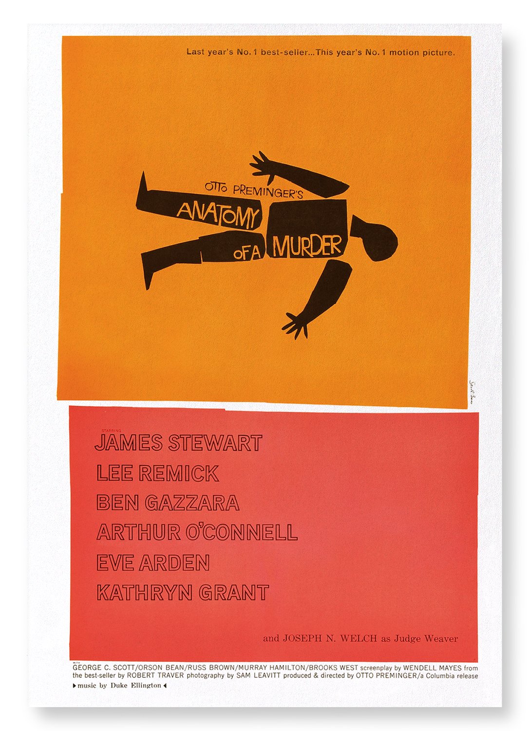 ANATOMY OF A MURDER (1959): 2xPrints