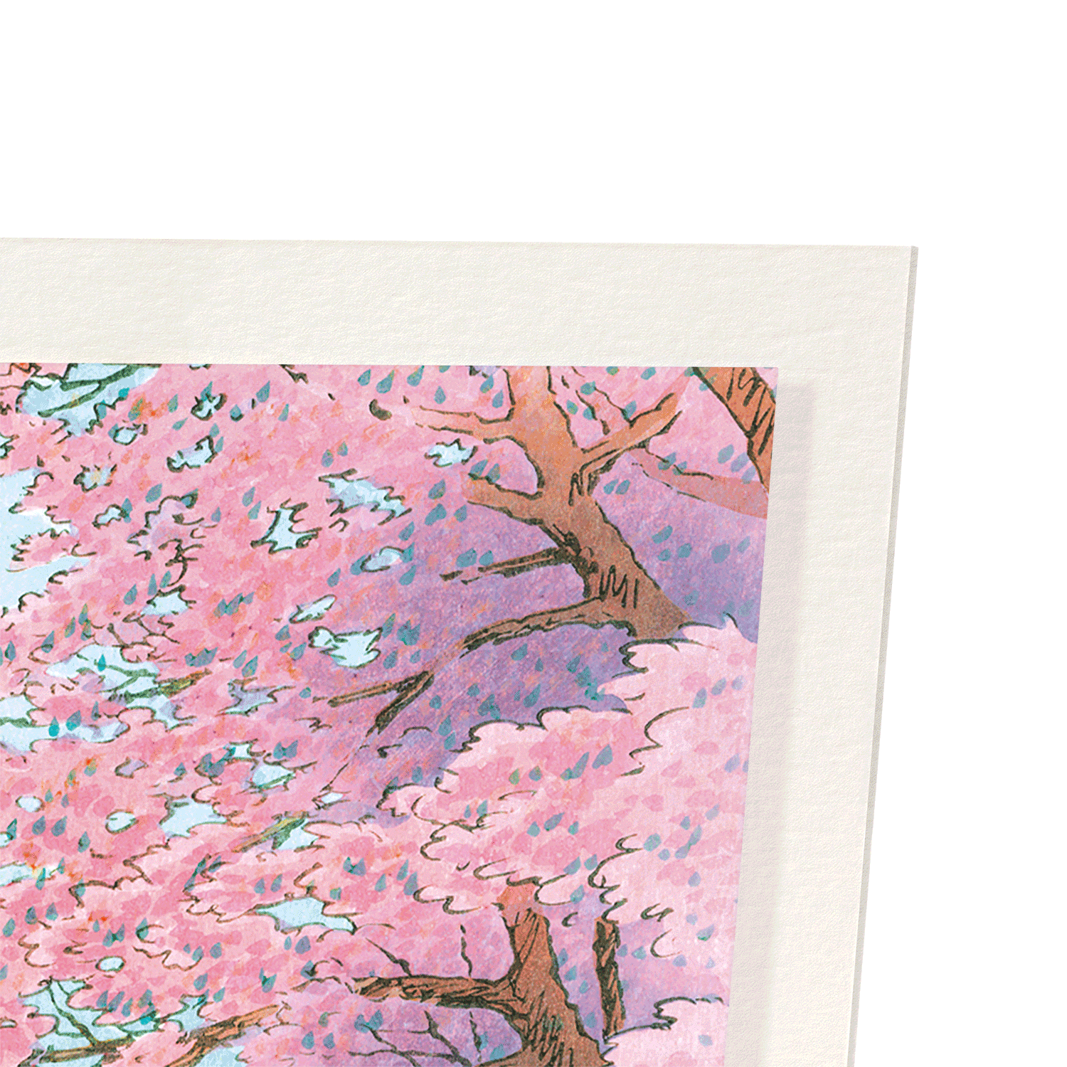 CASTLE AND CHERRY BLOSSOMS: 2xPrints