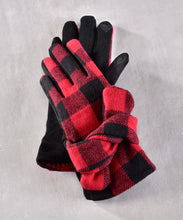 Load image into Gallery viewer, Polyester Plaid Gloves