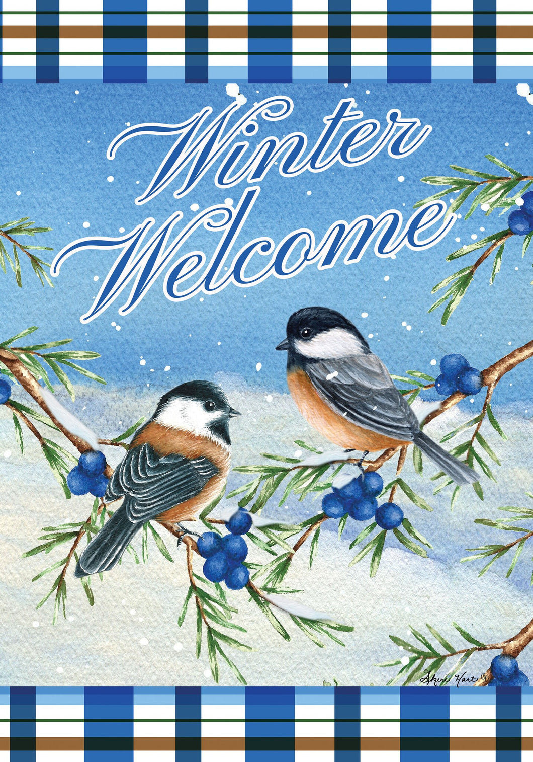 Winter Chickadees - Large Flag