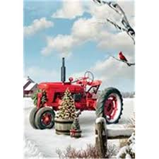 Red Tractor - Large Flag