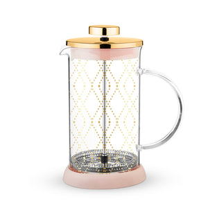 Riley™ Mini Souk Gold Glass Tea Press Pot by Pinky