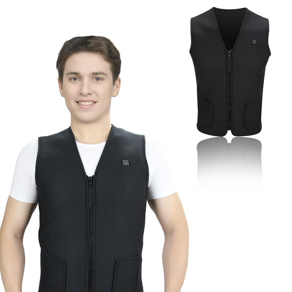 Autumn Winter Smart Heating Cotton Vest USB Infrared Electric Heating
