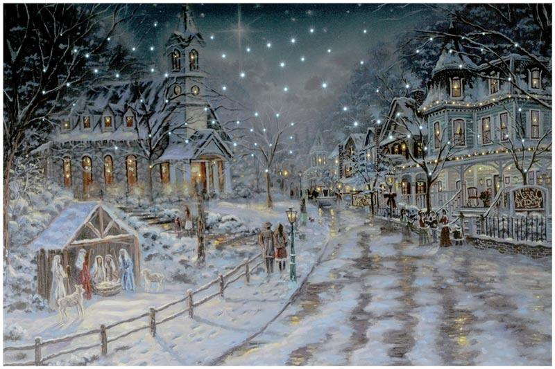 "23.75'' ""White Christmas "" LED Picture Canvas"