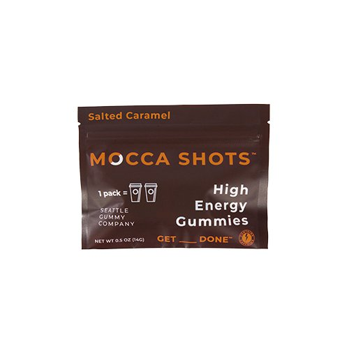 Mocca Shots Salted Caramel Chocolate Caffeine Gummy 12-pack