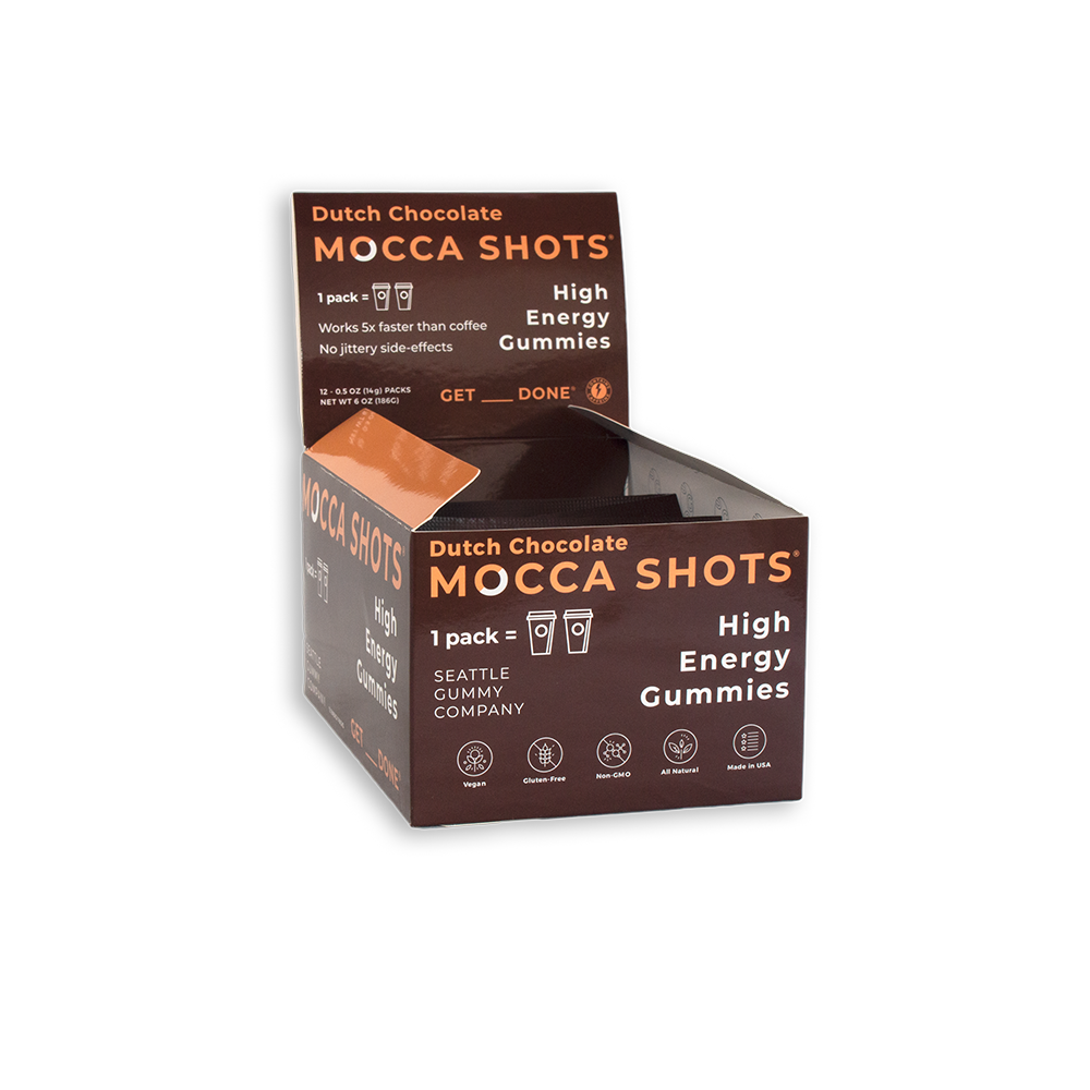 Mocca Shots Dutch Chocolate Caffeine Gummy 12-pack 12x2 shots