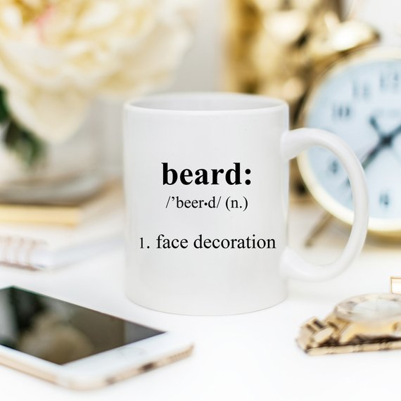 Beard Coffee Mug, Funny Coffee Mugs, Gift For Him,