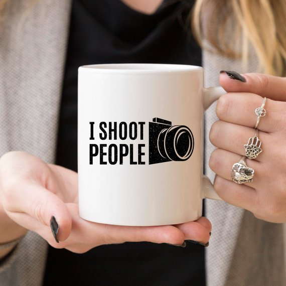 11oz Coffee Mug - I Shoot People - Ceramic Coffee