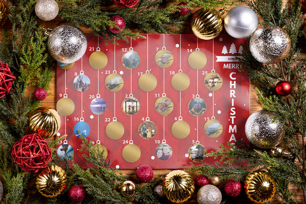 Personalised scratch off advent calendar - cpkdigital
