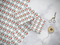 Christmas Wrapping Paper - Santa Face - cpkdigital