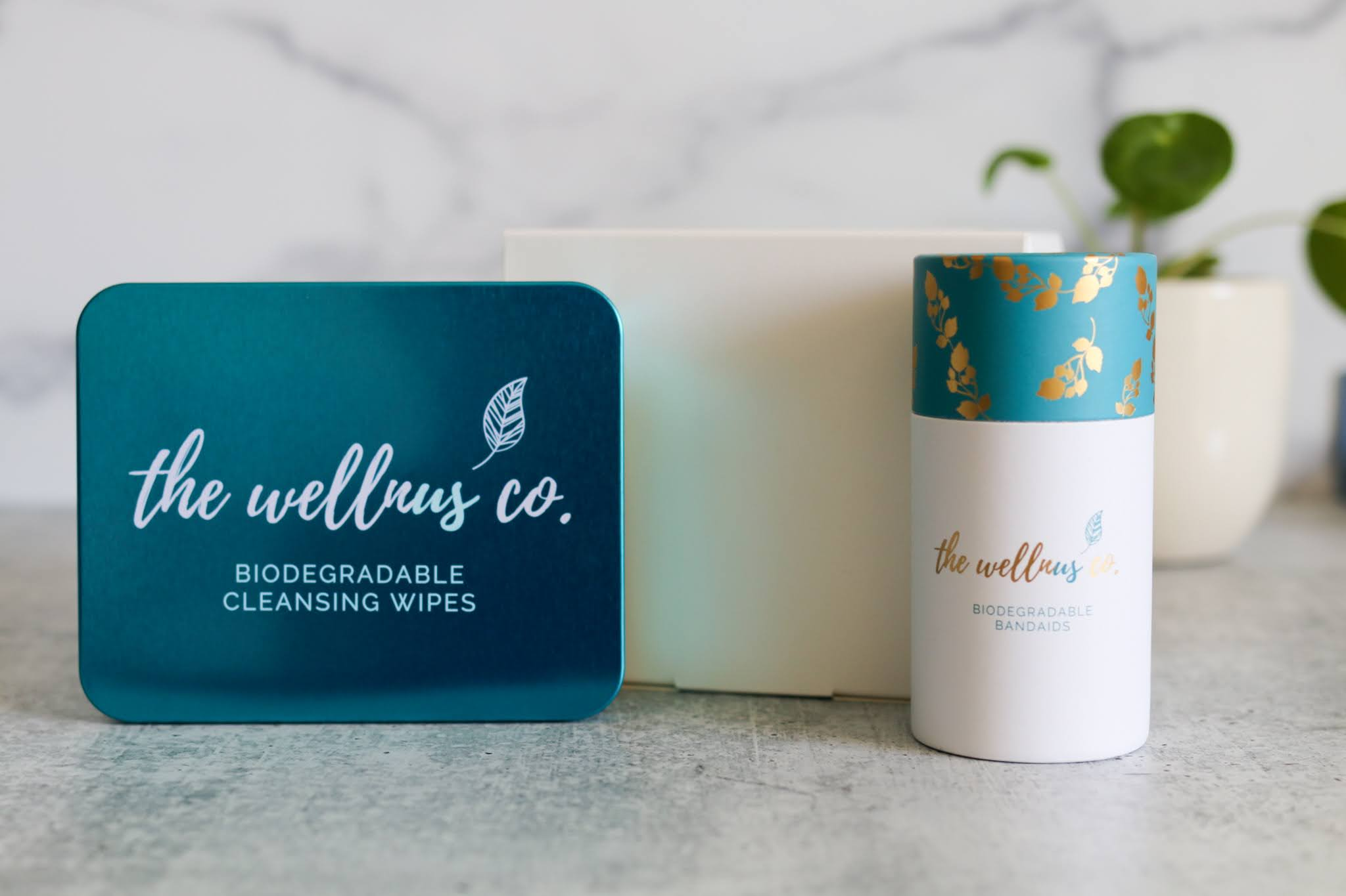 Natural Bamboo Wipes + Refills Box + Bandaids