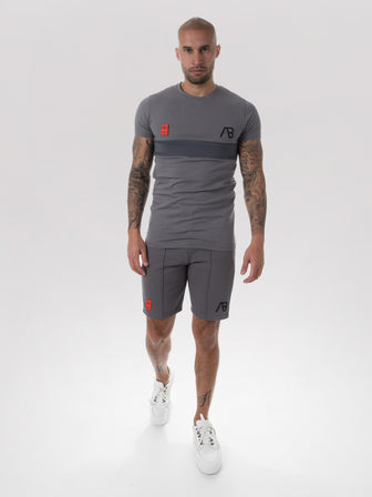AB x Frequencerz Limited Embroidery Short | Grey