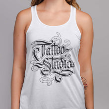 Load image into Gallery viewer, Women's Tattoo Studio Hand-Letter Tank