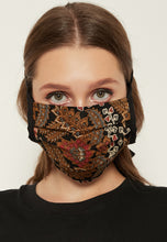 Load image into Gallery viewer, Adjustable Batik Cloth Mask - Floral Leaves