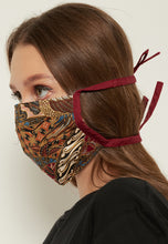 Load image into Gallery viewer, Adjustable Batik Cloth Mask - Multi Floral