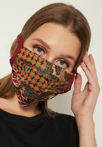 Adjustable Batik Cloth Mask - Multi Floral