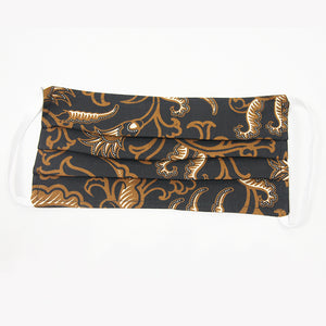 Batik Cloth Mask - Golden Leaves