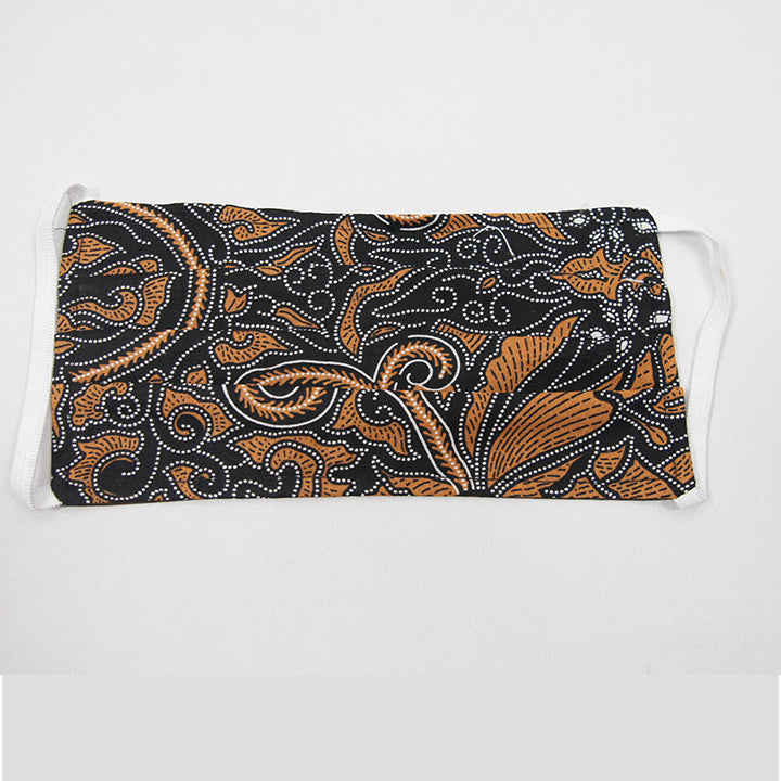Batik Cloth Mask - Cloud Leaves