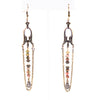 Gwen - Unakite Antique Brass Chandelier Earrings