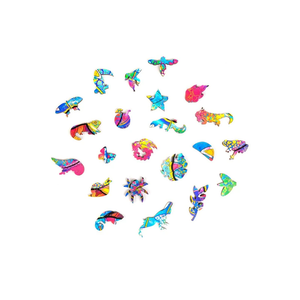 Woodanis™ Wooden Jigsaw Puzzle Quirky Chameleon