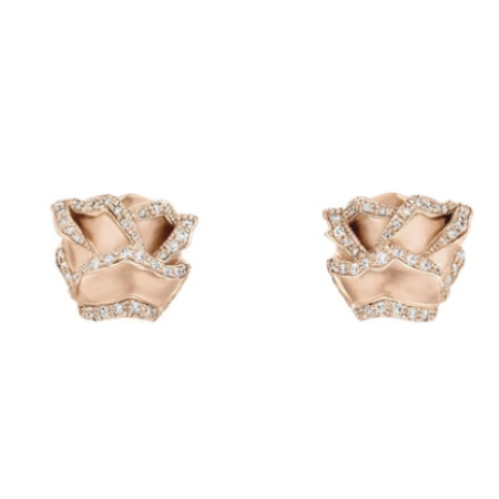 HRH Joaillerie rose gold and diamond earrings