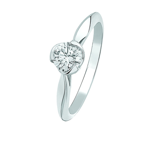 The I Do White Gold Diamond Solitaire Ring