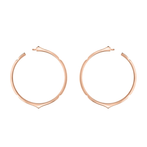 Aura - Rose Gold Hoop Earrings