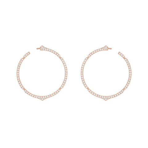 Aura - Rose Gold and Diamond Hoops
