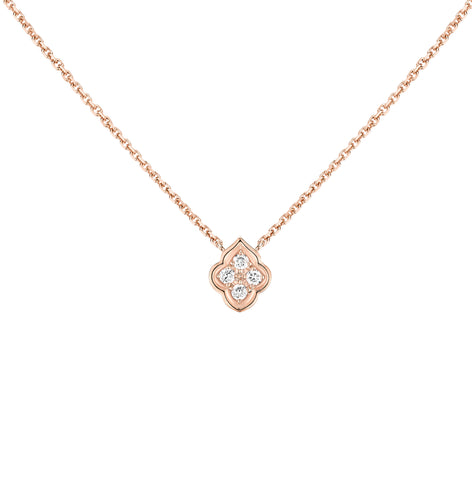 The Luce Rose Gold 4-Diamond Necklace